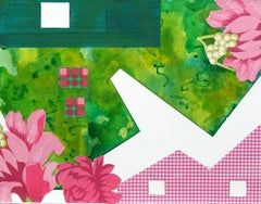 Green House and Pink Flowers