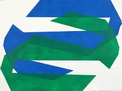 Blue and Green Zig Zag