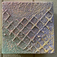 """Pastel, small 10""""x10"""" square mixed media painting by Joel Blenz"""