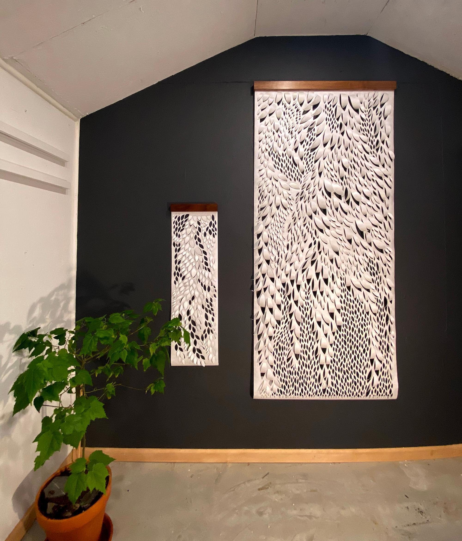 Hand-cut Paper Scroll, Wall Hangings 60x18