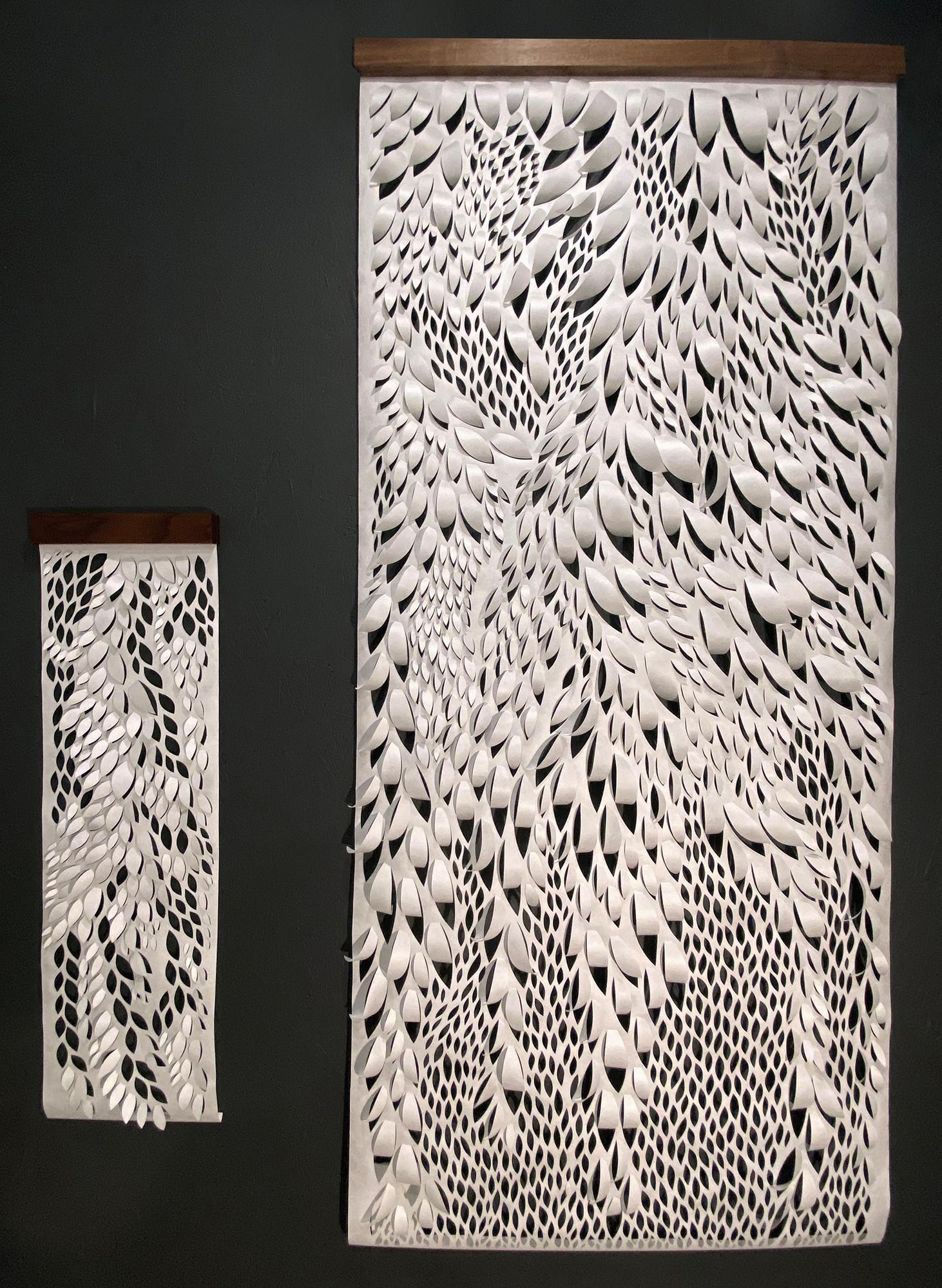 Hand-cut Paper Scroll, Wall Hangings 56x24