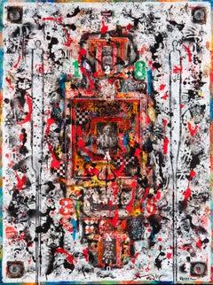 Amerika II, mixed media painting by Jean Daniel Rohrer