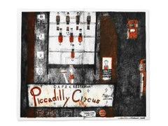 Picadilly Circus Cafe and Restaurant, Mitsushige Nishiwaki, Intaglio Print 2016