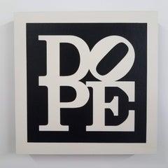 """Dope - Black & White , Color Block Letter Painting - Joseph """"JuJu"""" Bottari"""