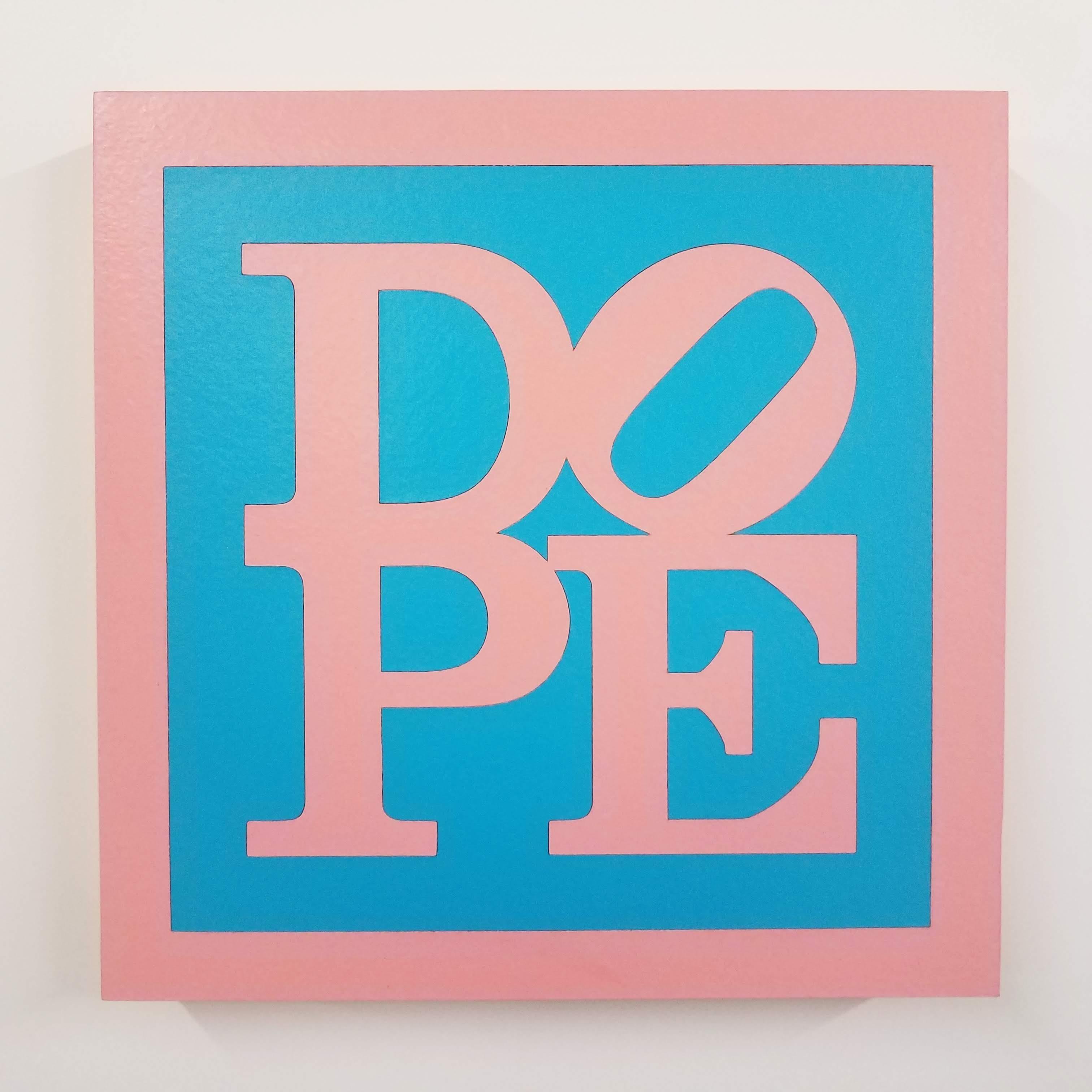 "Dope - Cheap Thrills, Hussy - Pink and Blue Block Letter - Joseph ""Juju"" Bottari"