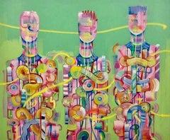 Ya Feel Me?! - Mixed media canvas original by Andrés García-Peña