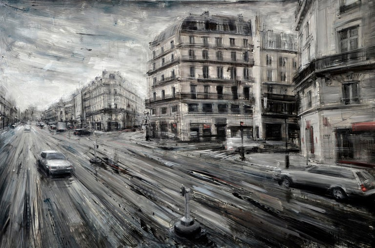 Valerio D'Ospina Figurative Painting - Avenue de l'Opera