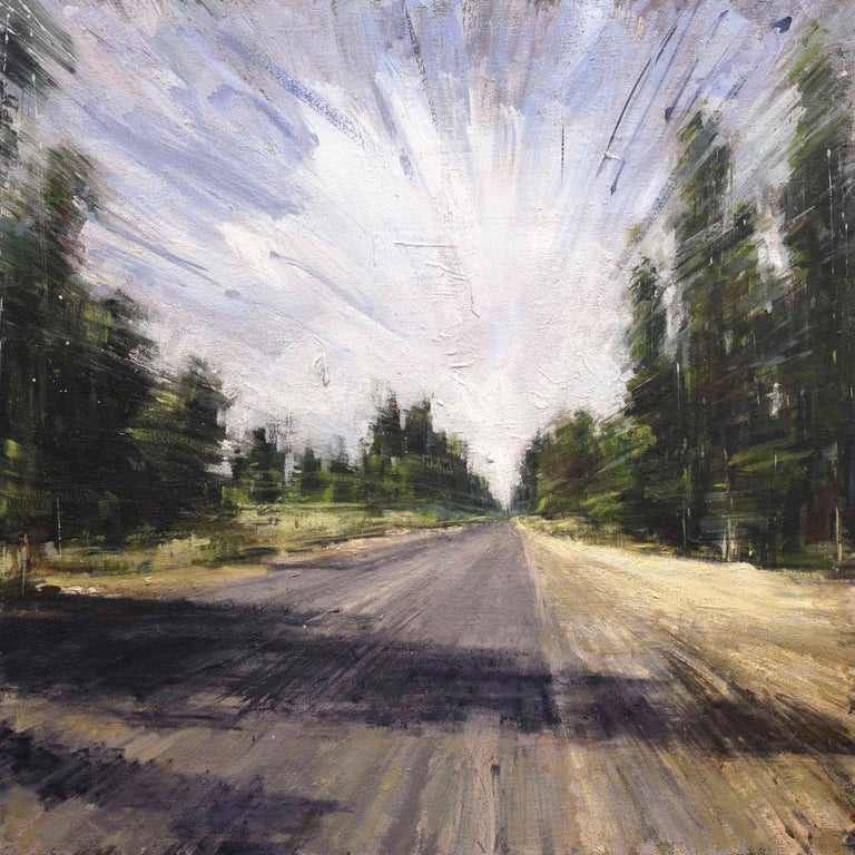 Valerio D'Ospina Landscape Painting - Driving Back Home