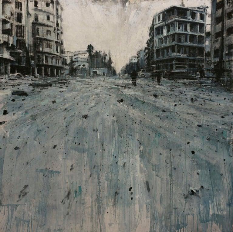 Valerio D'Ospina Landscape Painting - La Città Grigia