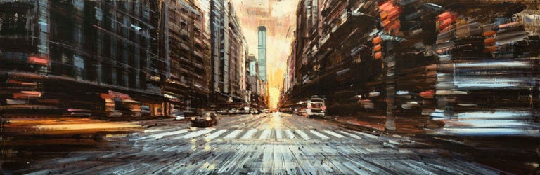 Valerio D'Ospina Figurative Painting - Manhattanhenge