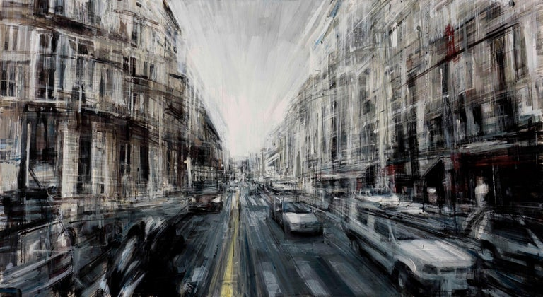 Valerio D'Ospina Figurative Painting - Rush Hour