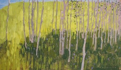 Morning Light and Aspen Shade , Oil Painting