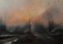 """Winter on Fire"" Oil painting"