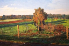 """""""Long after the Harvest"""" Encaustic painting"""