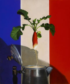 """French Breakfast Radish"", Oil Painting"