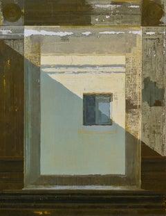 """""""Hall Window,"""" Oil Painting"""