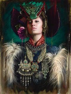 Zanskar Maiden, Oil Painting