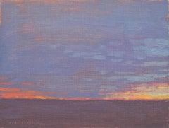 Winter Solstice Dusk, Oil Painting