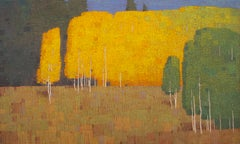 Autumn Morning with Changing Trees, Oil Painting