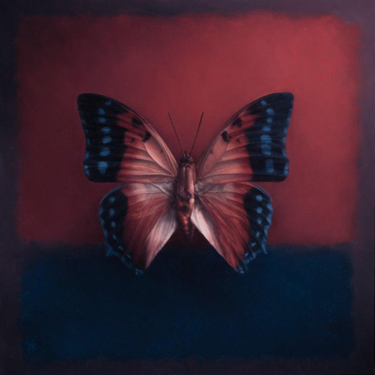 Patrick Kramer Still-Life Painting - Butterfly 14, Oil Painting