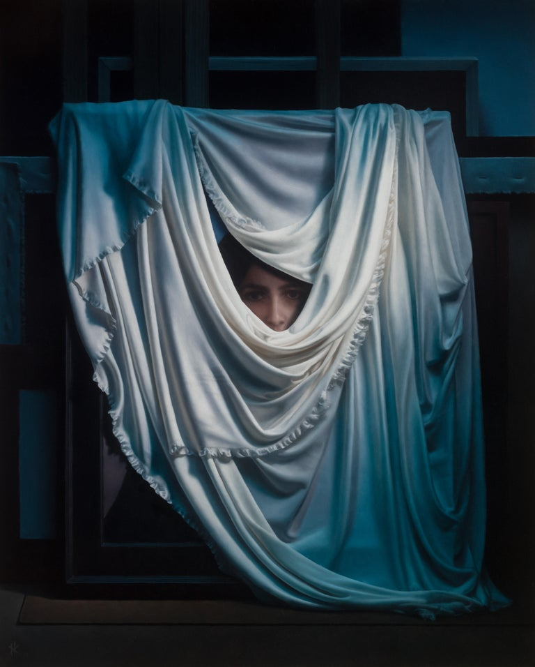Patrick Kramer Portrait Painting - Forgotten Grace, Oil Painting