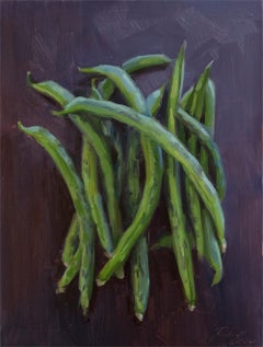 Green Beans, Oil Painting