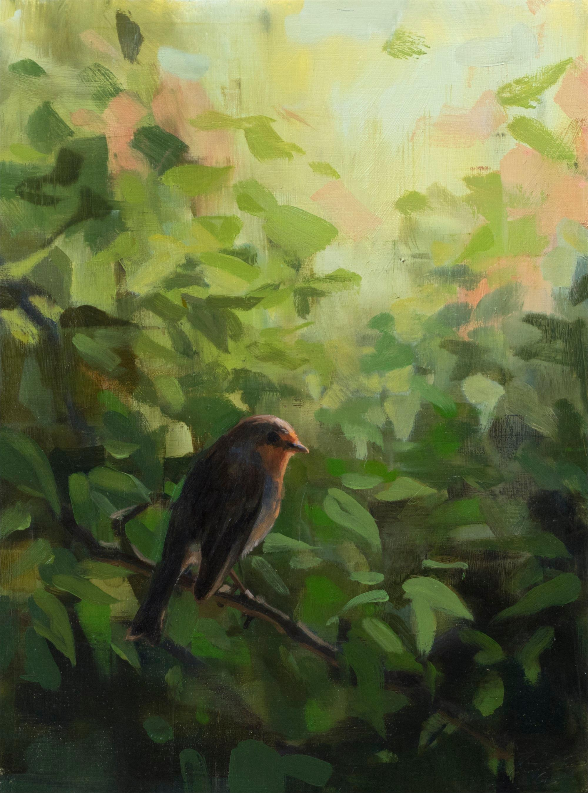 Robin, Oil painting