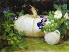 """""""Purple Pansies,"""" Oil Painting"""