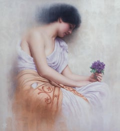 Revisiting Godward's Sweet Violet's, Oil Painting