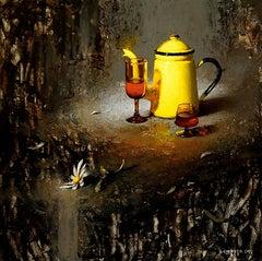 Sun Tea in Darkness, Oil Painting