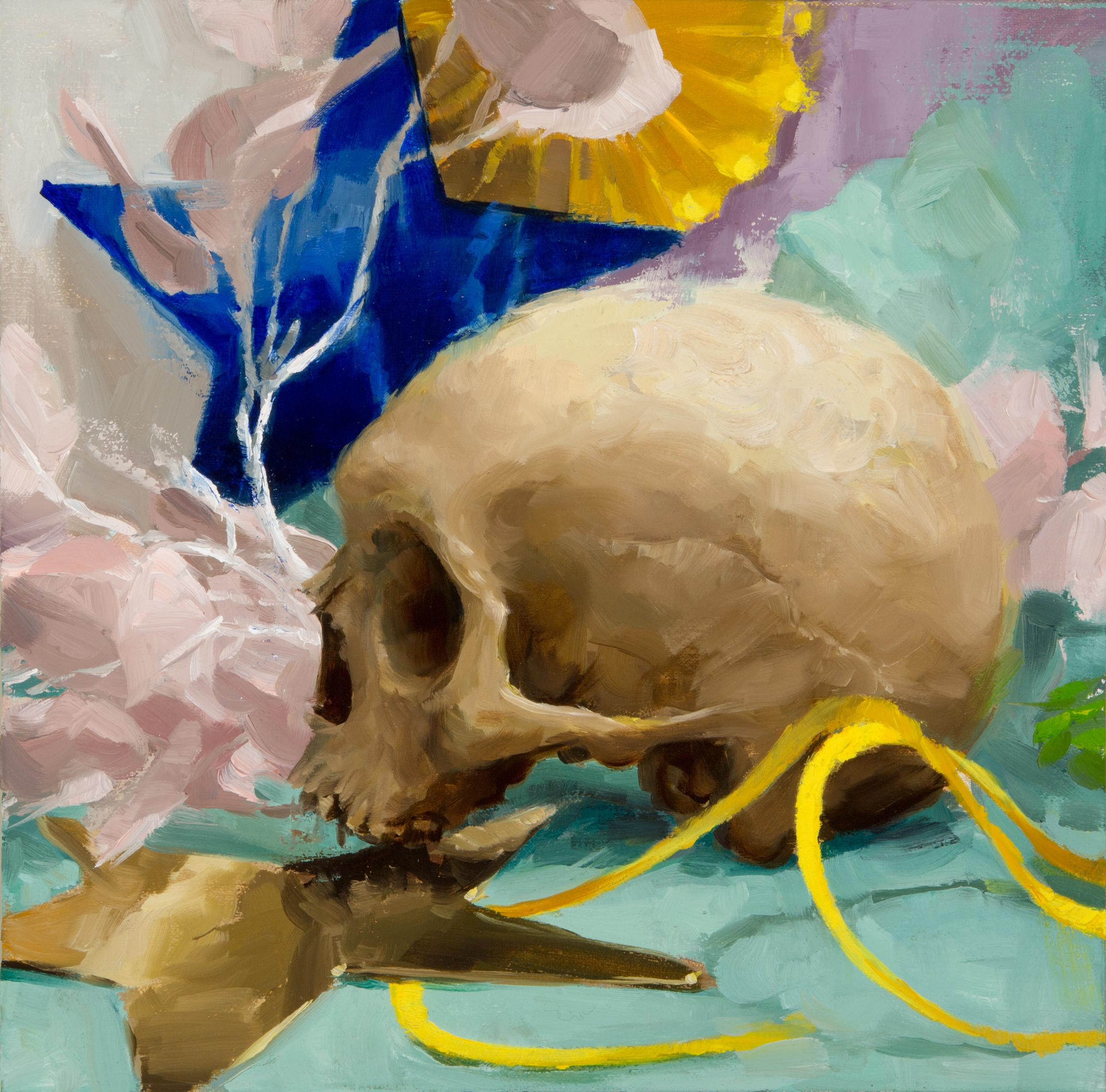 Party Skull #1, Oil Painting