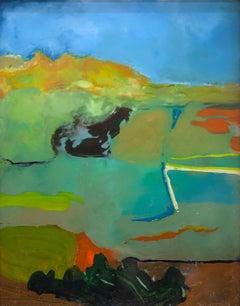 """Blue Skies"" Acrylic Painting"
