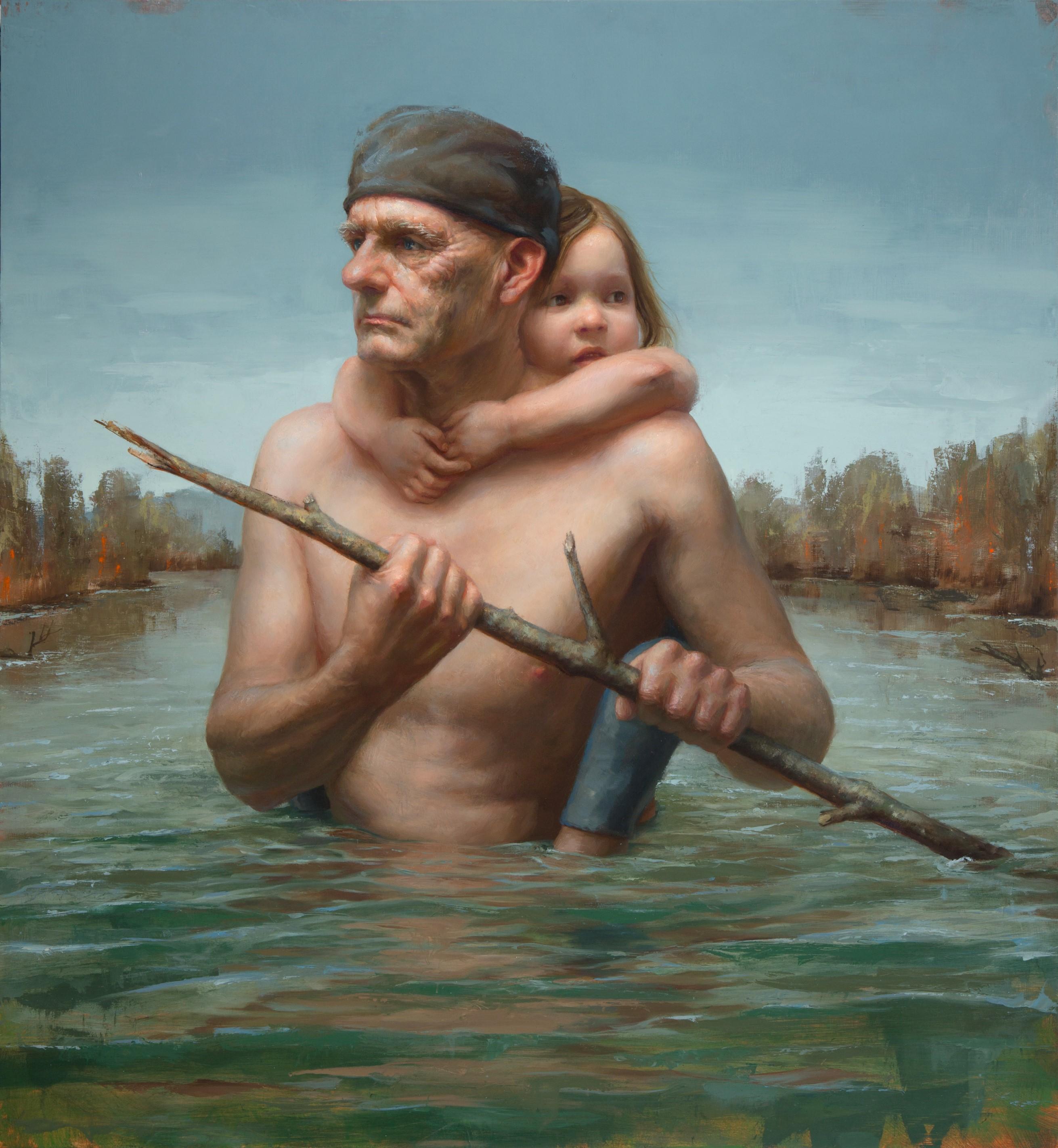 """Crossing"", Oil Painting"
