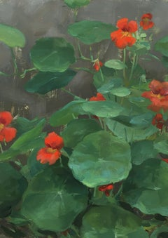 """Nasturtiums"", Oil Painting"