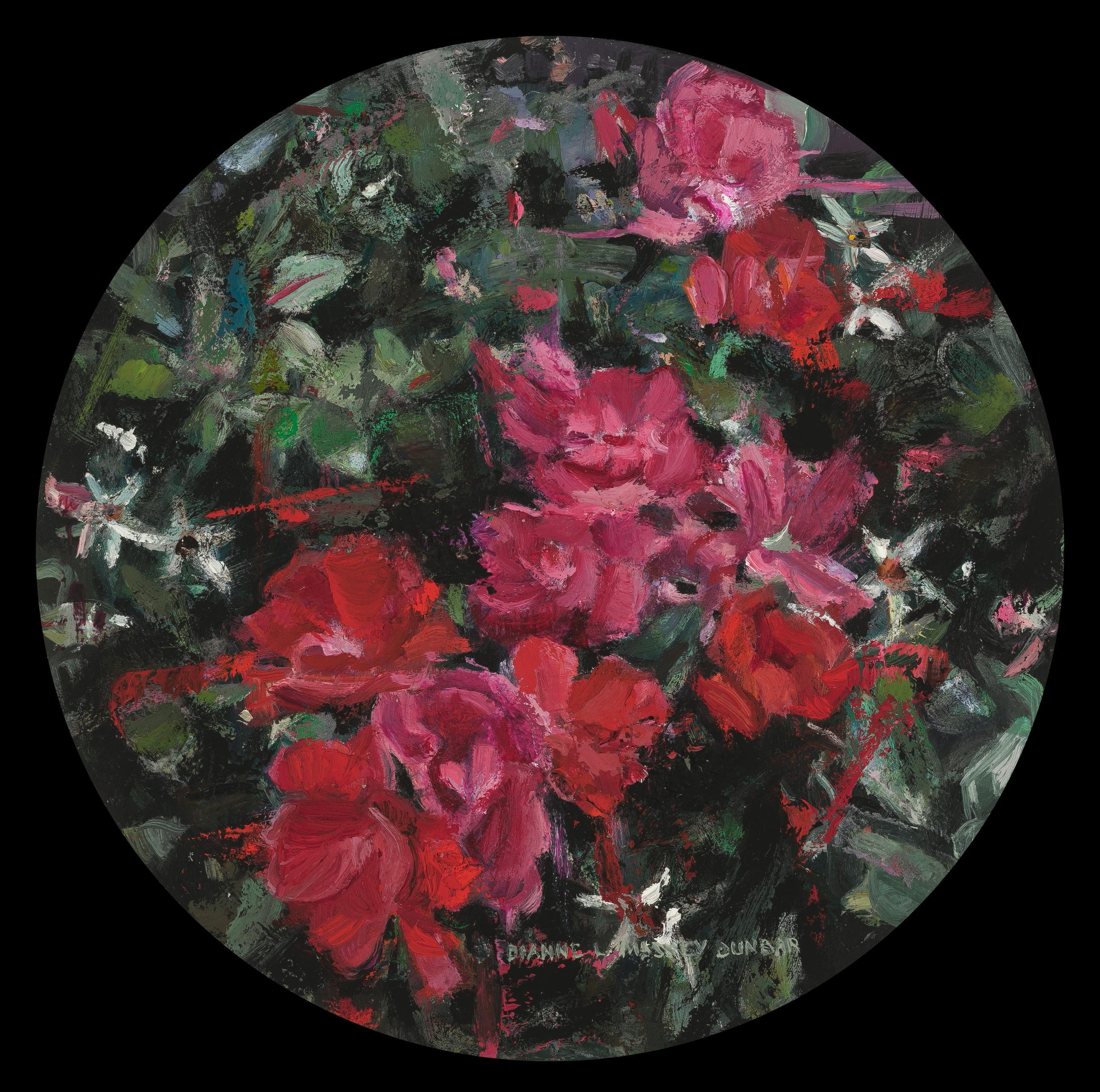 """Shrub Roses"", Oil Painting"