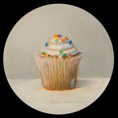 """Cupcake"", Oil Painting"