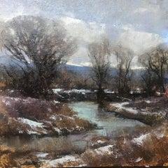 """""""Platte River Overcast"""" Oil Painting"""