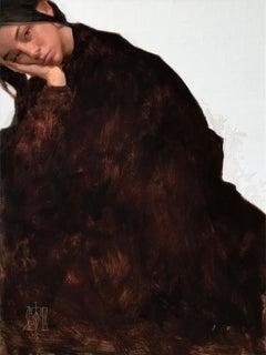 """Girl in a Black Dress II"" Oil Painting"