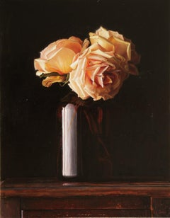 """""""Pink Roses"""" Oil Painting"""