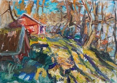 """""""Colorful morning (Spring in southern Finland)"""" Oil painting"""