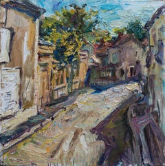 """""""A Street in Burgundy"""" Oil painting"""