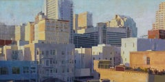 """Tenderloin Rooftops"" Oil Painting"