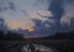 """""""Road at Dusk"""" Oil painting"""