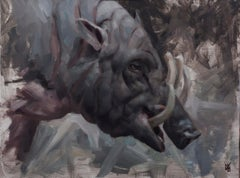 """Boar"" Oil painting"