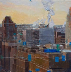 """January Sunrise"" Encaustic painting"