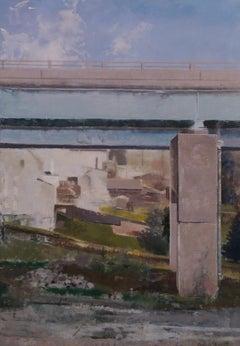 """Fog Silver"" Encaustic painting"
