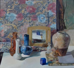 """""""Collection and Tapestry"""" Encaustic painting"""