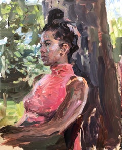 """Danielle outside,"" Oil painting"