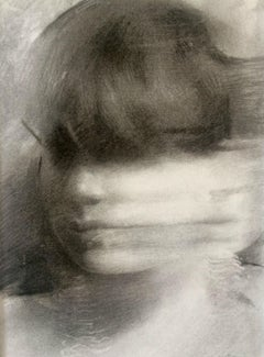 """""""Portrait in Motion"""" Charcoal Drawing"""