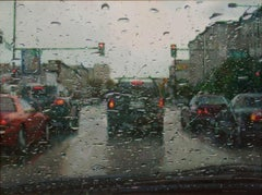 """Rain on Windshield"", Oil Painting"